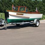 1930's RumRunner Wood Boat - Anchors Aweigh - Used classic wood boats for sale in Minnesota (1)